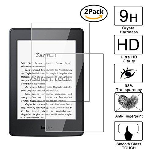 Guran® [2 Stück] Displayschutz Glasfolie für Amazon Kindle Paperwhite Hartglas Schutzfolie Film 3D Touch Kompatibel Panzerglasfolie