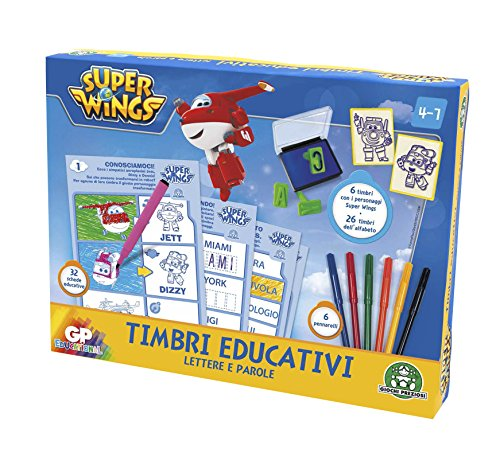 Giochi Preziosi - Super Wings Set di Timbri Educativi