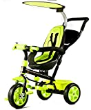 Baybee Electrabuzz 4 In 1 Trolly Cycle Tricycle With Canopy And Parent Control (Green)