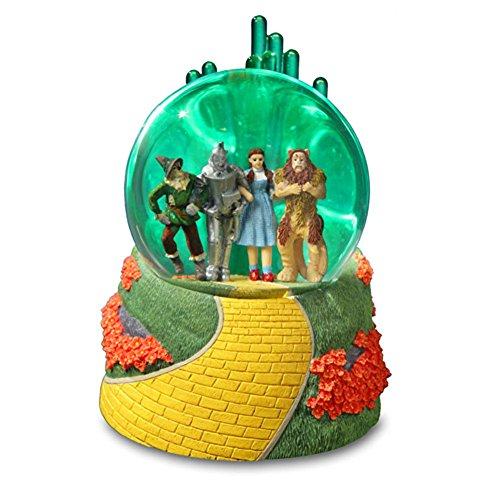 Emerald City Wizard of Oz Lighted verde Water Globe