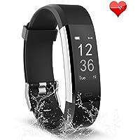 Fitness Armband Uhr, Three-T Fitness Tracker mit Herzfrequenz / Schrittzähler / Kalorienzähler / Schlafmonitor / 14 Training-Modi, IP67 Wasserdicht Aktivitätstracker Podometer für Android und iphoneähler für Android und iOS Smartphones