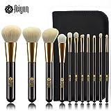 11 brochas de maquillaje Feiyan de pelo natural y sintético, de tacto...