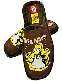 Zapatillas HOMER SIMPSON Andar en Casa MARRÓN