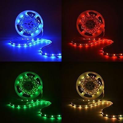 B.K.Licht 10 Meter LED Lichtstreifen Band Farbwechsel dimmbar selbstklebend Lichtleiste von B.K.Licht