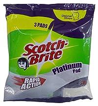 Scotch-Brite Platinum Scrub Pad, 3 Pieces Pack