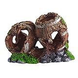 Doitsa Acuario Faux Roca Cueva decoración, Fondo Marino simulé Paisaje Size 14* 7* 10cm