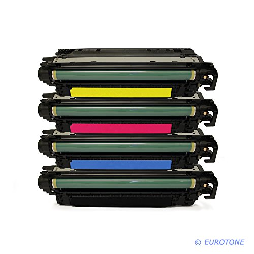 4x Eurotone Remanufactured Toner für HP LaserJet Enterprise 500 color M 551 575 xh c f dn n ersetzt CE400A-03A 507A (Hp Laserjet Enterprise 500 M551xh)