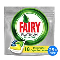 Fairy Platinum All In One Lemon Dishwasher Tablets 18 pack