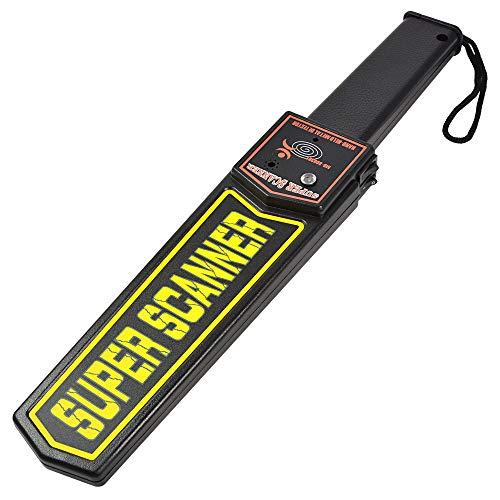 MENGS Hand-Held Meral Detector con alarma de zumbador / vibración LED en busca de armas ofensivas...