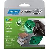 Norton Lot de 5 Disques Pex auto-agrippants expert Diamètre 125 Grain 80 multi air