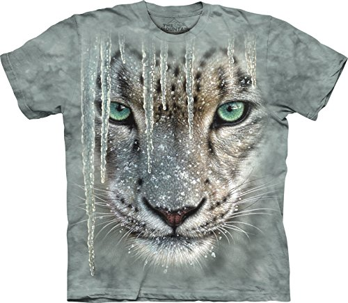 The Mountain Grey 100% Cotton Icicle Snow Leopard Awesome Youth T-Shirt (Large)