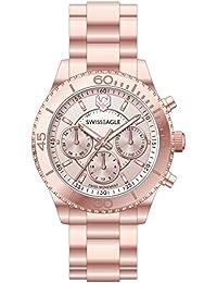 Swiss Eagle Analog Rose Gold Dial Women's Watch - SE-9105-22