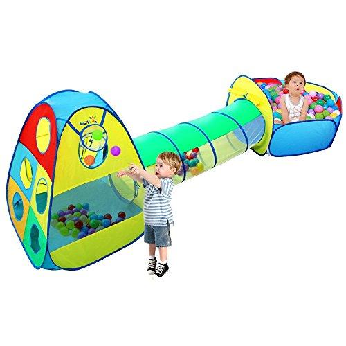 Tenda-del-Gioco-con-il-Tunnel-e-la-Palla-Pit-VICIVIYA-3-in-1-Giocattoli-per-la-Casa-di-Gioco-dei-Bambini-Gioco-Tenda-Giocattolo-Tunnel-Bambino-Ball-Pool-multicolore