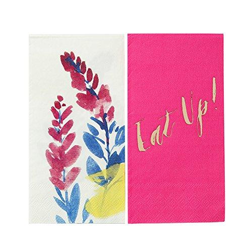 Talking Tables 20 rosa Papierservietten, 2 unterschiedliche Muster für Partys, 20 st., 33cm