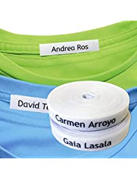 100 Etichette personalizzate per l'abbigliamento con nome (termoadesive - ferro) per bambini. Vestiti / abbigliamento per bambini,