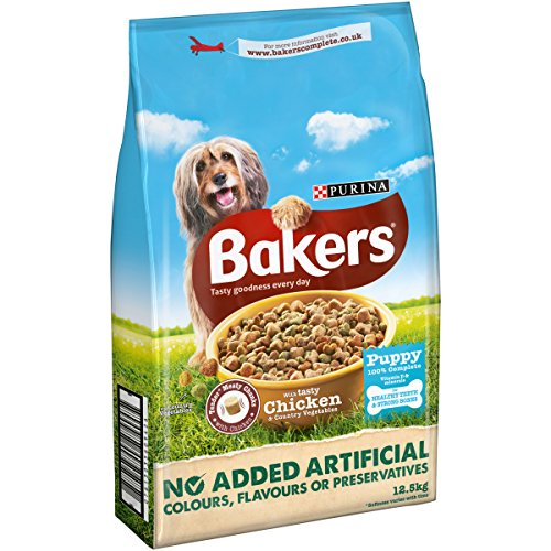 Bakers-Complete-Dog-Food-PuppyJunior-Tender-Meaty-Chunks-Chicken-125-kg
