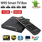 #9: Android 7.1 Smart TV Box- VGROUND W95 Android TV Box with Amlogic S905W Quad-Core, 1GB RAM 8GB ROM, 4K UHD, Built-in Wi-Fi & LAN VP9 DLNA H.265