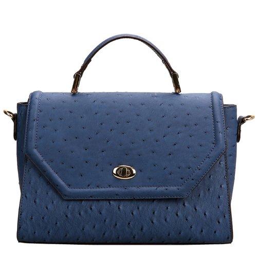 Valin Q0448 donna Borse a spalla,Borse a tracolla30x20x12 cm (B x H x T) Blue
