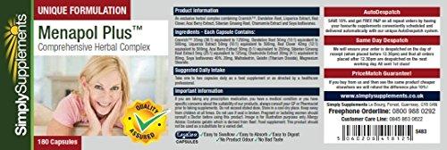 Menapol Plus | Reduces Symptoms of Menopause | 180+180 (360) Capsules | 100% money back guarantee | Manufactured in the UK