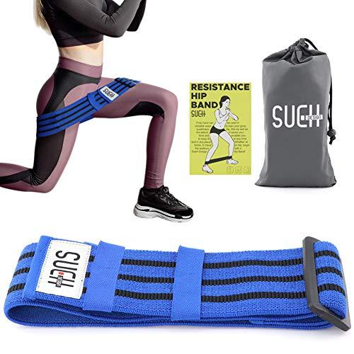SueH Design Einstellbares Fitnessband für Beine und Po | Widerstandsband aus Textilmaterial I Ideal für zu Hause und Unterwegs| Geeignet für Yoga, Pilates und Gewichtheben