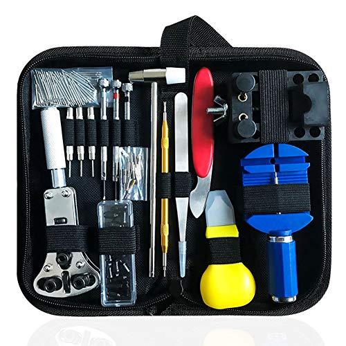 Uhrenreparatur-Set, 147-teiliges Uhrenwerkzeug, professionelles Federsteg-Werkzeug-Set, Uhrband-Gliederpinentferner mit Tragetasche.