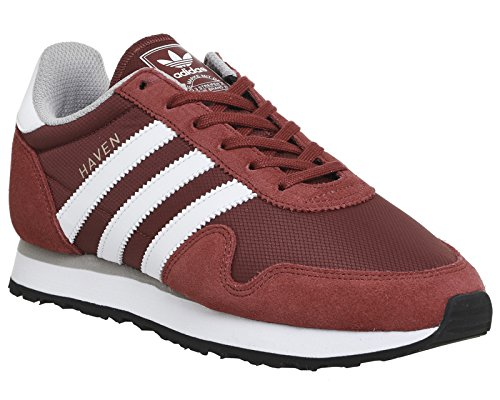Adidas Haven, Chaussures De Sport Basses Rouges Et Adultes Unisexes