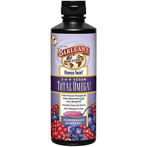 Total de Omega 3 bis bis · 6Â · 9 vegano, granada arándano 16 oz (454 g) - Barlean de