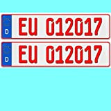 2 x EU KFZ Händlerkennzeichen Nummernschilder rote Kennzeichen Autoschilder ROT
