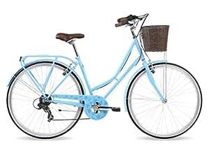 Kingston Hampton, Ladies Classic Bicycle, 7 Speed, 700C Wheel, Light Blue (16 Inch Frame)