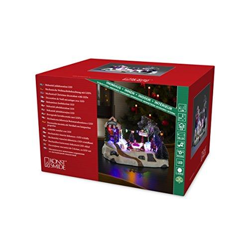 Konstsmide 3444-000 LED Szenerie 'Autoscooter' für Innen VDE geprüft 4,5 V Innentrafo mit Animation und 8 klassischen, 11 Dioden, transparent Kabel, Plastik, bunt