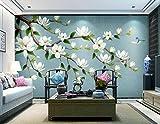 Yosot Benutzerdefinierte Home Improvement 3D Tapete 3D Wandbilder Vintage Hand Gezeichnete Blumen Und Vögel Wandmalerei-350Cmx245Cm