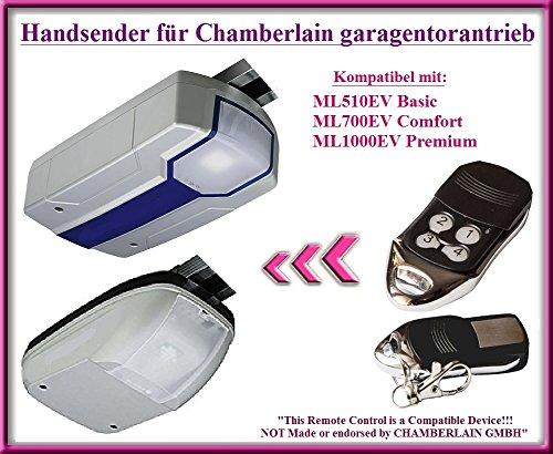 Kompatibel handsender für Chamberlain ML510EV Basic / ML700EV Comfort / ML1000EV Premium garagentorantriebe. Top Qualität ersatz fernbedienung für den besten Preis!!!