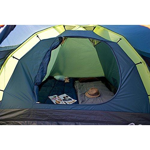 Coleman Fast Pitch Drake, Zelt 4 Personen, 4 Mann Zelt, Igluzelt, Festivalzelt, leichtes Kuppelzelt mit Vorzelt, eine Schlafkabine, wasserdicht WS 3.000 mm - 5