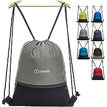 ZOMAKE Cordón Mochila Bolsa Sackpack Impermeable Deporte Gimnasio Saco Bolsas de Cuerdas Gymsack Backpack para Hombre