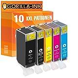 Gorilla-Ink® 10x Drucker-Patrone XXL kompatibel zu Canon PGI-525 XL CLI-526 XL Pixma MG 5350 MG 6150 MG 6200 Series MG 6250