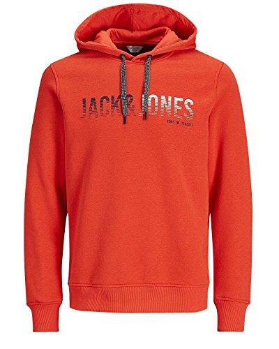 Jack&Jones Sweatshirt Herren S Langarm Rot 12131551 JCOLINN SWEAT HOOD NOOS LIGHT GREY MELANGE / SLIM