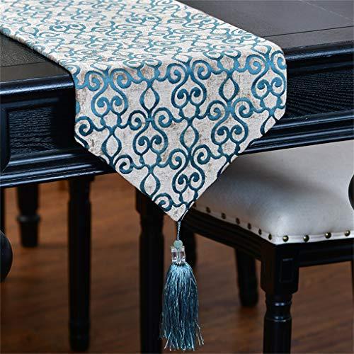 MXCZLQH IschläUfer Geometrische Mosaik Chenille Couchtisch Modell Zimmer Chenille Tischdecke