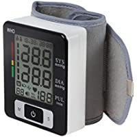 LL-Monitor de presión arterial de muñeca, Probador digital de BP automático con gran pantalla LCD retroiluminada, Monitor de ritmo cardíaco irregular, Dos memorias de usuario, Indicador IHB