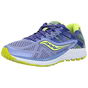 Saucony Ride 10, Zapatillas de Running para Mujer, Azul (Purple/Blue/Citron), 42.5 EU