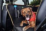 Jekam Hundeschutzdecke für Auto Rücksitz wasserdichte Hundeschondecke mit vier praktischen Taschen