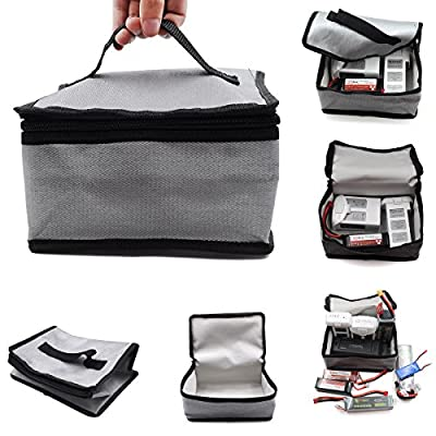 STARTRC LiPo Battery Bag Fireproof Safe Bag Safe Guard Explosionproof Pouch Sack for Lipo Battery 7.87x4.33x5.9 inch