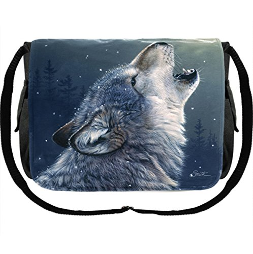 icca Pagan Hexe Magier Tasche Messenger Bag Wolf Wölfe (Pagan Hexe Kostüm)