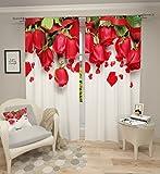 Lemare Vorhang Blickdicht Digitaldruck Rote Rose 2X 145x260 cm