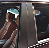 6x Alu gebürstet Schwarz Türzierleisten Verkleidung B Säule Türsäule passend für Ihr Fahrzeug