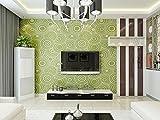 TX NEIYI Wohnzimmer TV Hintergrund 3D Deerskin Kaschmir Wand Papier Modernen Minimalistischen Schlafzimmer Tapete Europäischen Vlies Mode-Tapeten,Green
