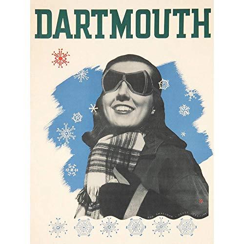 ertisement Travel Dartmouth Winter Carnival Art Print Poster Wall Decor Kunstdruck Poster Wand-Dekor-12X16 Zoll ()