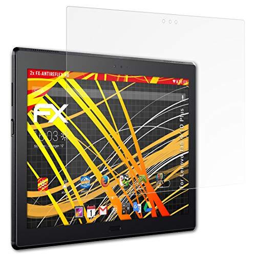 atFolix Schutzfolie kompatibel mit Lenovo Tab 4 10 Plus Bildschirmschutzfolie, HD-Entspiegelung FX Folie (2X)