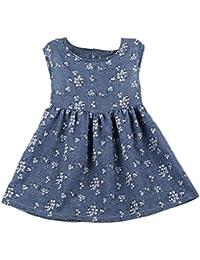 Bambini Vestito - feiXIANG®�� vestito da principessa i bambini si vestono abbigliamento per bambini vestito da bambino floreali senza maniche Princess Dress gonna misto cotone