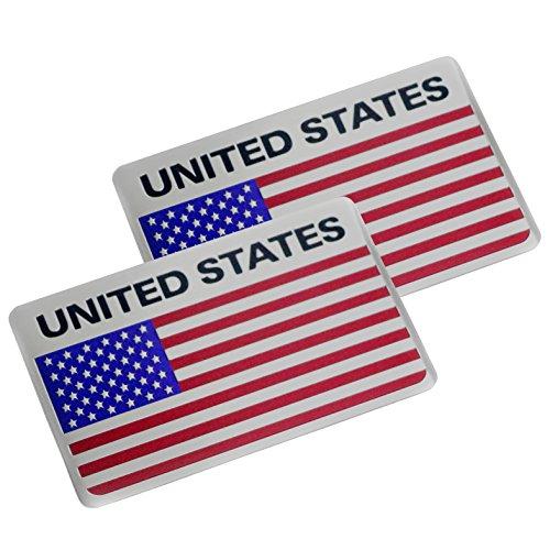 PT-Decors 2 stücke USA Vereinigte Staaten Abzeichen Aluminium Metall Graphic Aufkleber Auto Emblem Aufkleber