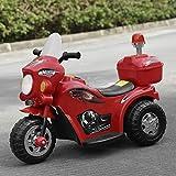 KinshopS Kinder Elektroauto Motorrad Elektro Kindermotorrad Kinderauto Elektrofahrzeug mit Hellen Frontscheinwerfer Musical und Horn Sound-Effekt (Rot)